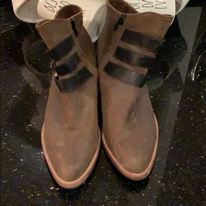 Poppy Barley 3 buckle military booties